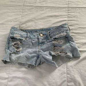 American Eagle Outfitters Shorts - American Eagle Light Wash Ripped Denim Shorts